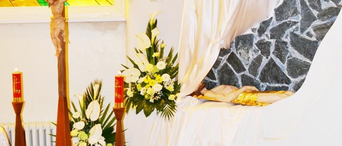 Boží hrob v chráme sv. Košických mučeníkov v Humennom.