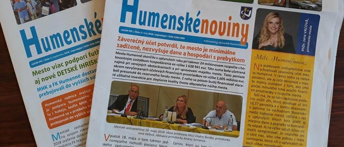 Podľa TIS Humenské noviny propagujú vedenie radnice abnormálne často, v niektorých vydaniach úplne chýba diskusia.