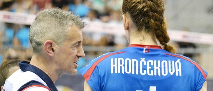 Tréner slovenskej repre – Talian Marco Fenoglio s Veronikou Hrončekovou.