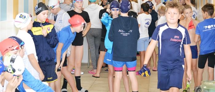 Príprava pred štartom jednotlivých plaveckých disciplín.