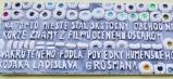 Na tomto mieste stál skutočný obchod na korze, známy z filmu oceneného Oscarom, nakrúteného podľa poviedky humenského rodáka Ladislava Grosmana.
