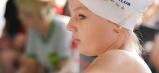 Jedna z našich mladých plaveckých nádejí pred štartom.